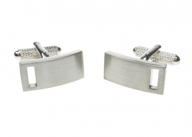 Classic Silver Colour Bar Cufflinks